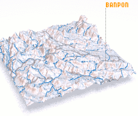 3d view of Bản Pon