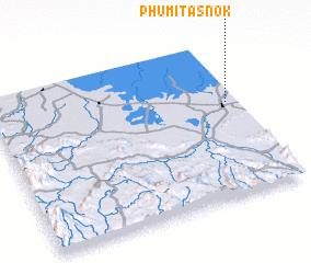 3d view of Phumĭ Ta Snôk