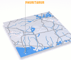 3d view of Phumĭ Ta Mŭm