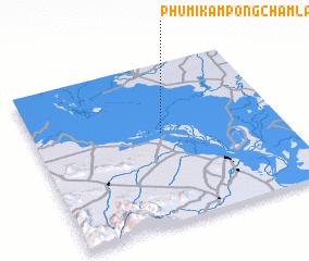 3d view of Phumĭ Kâmpóng Châmlâng