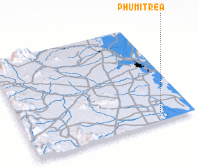 3d view of Phumĭ Tréa
