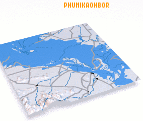 3d view of Phumĭ Kaôh Bor