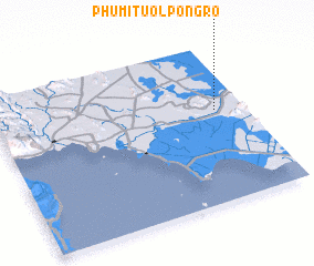 3d view of Phumĭ Tuŏl Pôngrô