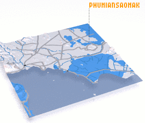3d view of Phumĭ Ânsaôm Âk