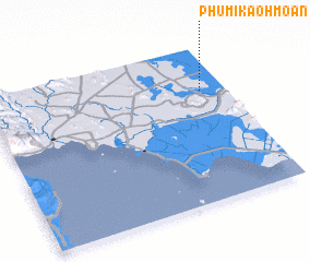 3d view of Phumĭ Kaôh Moân
