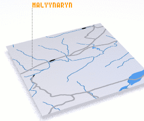 3d view of Malyy Naryn