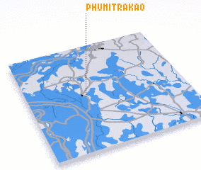 3d view of Phumĭ Trâkaô