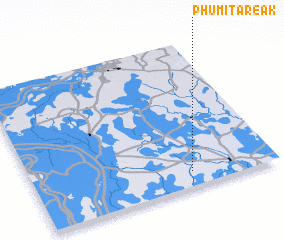 3d view of Phumĭ Tareăk