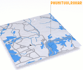 3d view of Phumĭ Tuŏl Rôkar