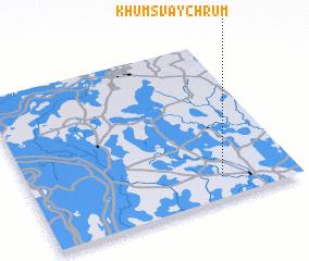 3d view of Khŭm Svay Chrŭm