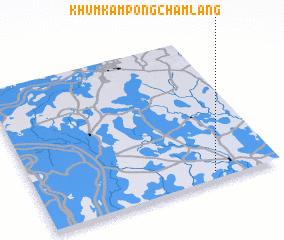 3d view of Khŭm Kâmpóng Châmlâng