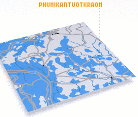 3d view of Phumĭ Kântuŏt Kraôm