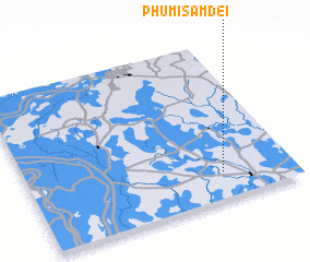 3d view of Phumĭ Sâmdei