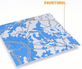 3d view of Phumĭ Thmól