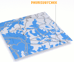 3d view of Phumĭ Svay Chék