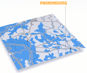 3d view of Phum Ô Mékông