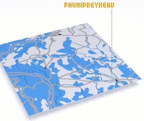 3d view of Phumĭ Prey Kéav
