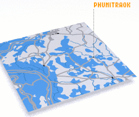 3d view of Phumĭ Traôk