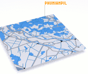 3d view of Phumĭ Âmpĭl