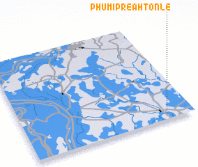 3d view of Phumĭ Preăh Tônlé