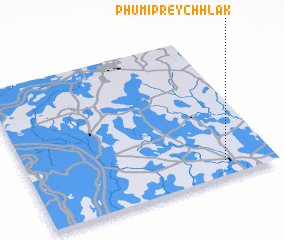 3d view of Phumĭ Prey Chhlăk