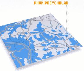 3d view of Phumĭ Prey Chhlăk