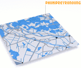 3d view of Phumĭ Prey Rônoŭng