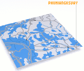 3d view of Phumĭ Ângk Svay