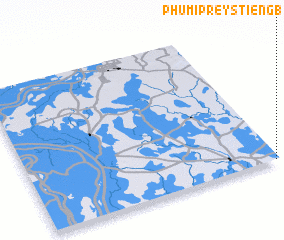 3d view of Phumĭ Prey Stiĕng (1)