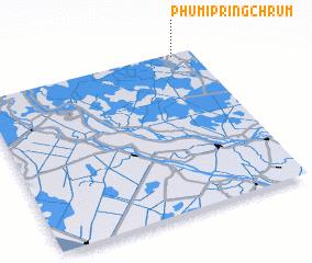 3d view of Phumĭ Pring Chrum
