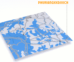 3d view of Phumĭ Ângk Kduŏch