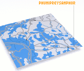 3d view of Phumĭ Prey Sâmphôr