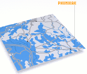 3d view of Phumĭ Kák