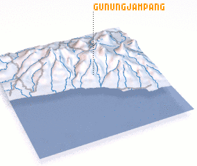 3d view of Gunungjampang