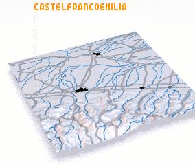 3d view of Castelfranco Emilia