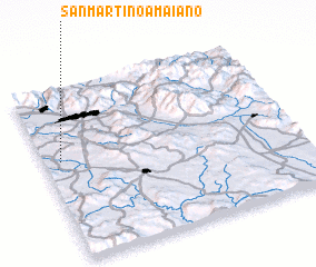 3d view of San Martino a Maiano