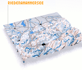 3d view of Rieden am Ammersee