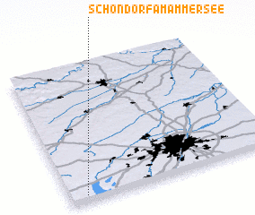 3d view of Schondorf am Ammersee