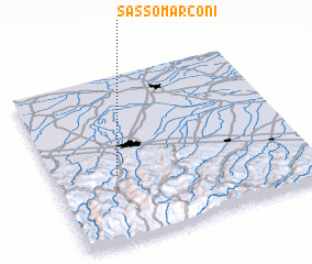 3d view of Sasso Marconi