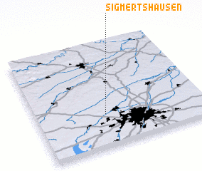 3d view of Sigmertshausen