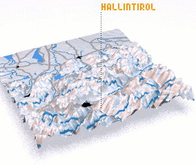 3d view of Hall in Tirol