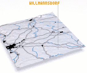 3d view of Willmannsdorf