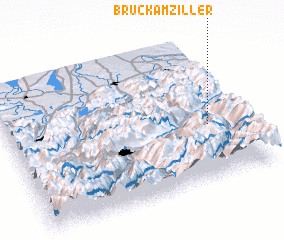 3d view of Bruck am Ziller