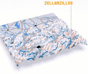 3d view of Zell am Ziller