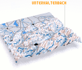 3d view of Unterkaltenbach
