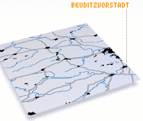 3d view of Beuditzvorstadt