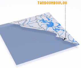 3d view of Tandou Mboulou