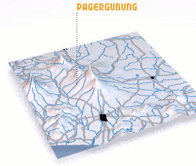 3d view of Pagergunung