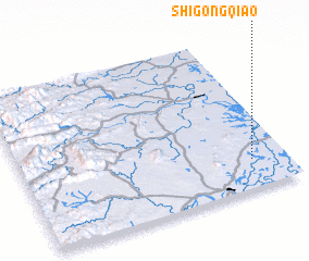 3d view of Shigongqiao