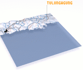 3d view of Tulungagung